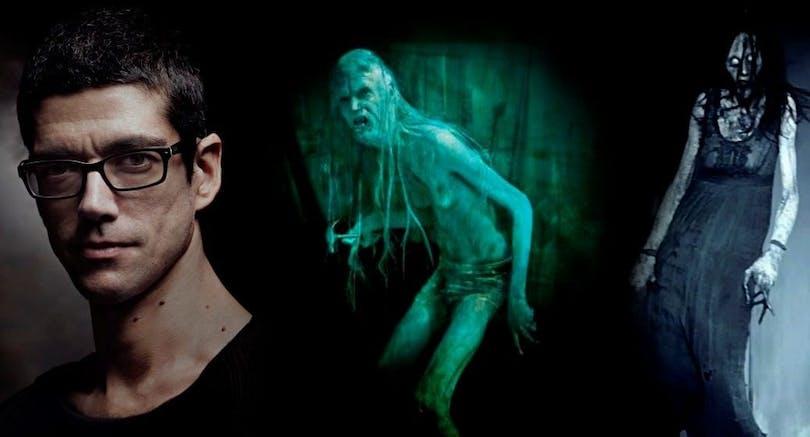 """Javier Botet som monster från filmerna """"Rec"""" och """"Mara""""."""