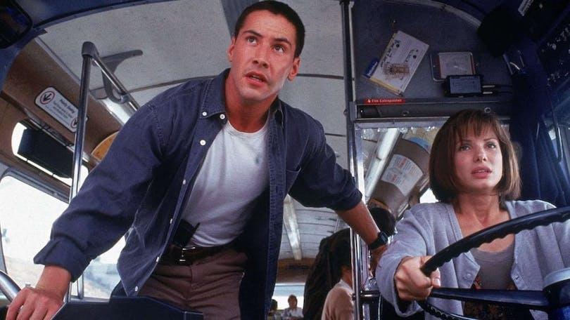 Keanu Reeves och Sandra Bullock i Speed.
