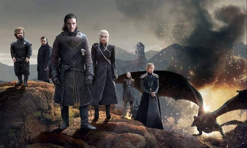 På bilden ser du hela Game of Thrones gänget