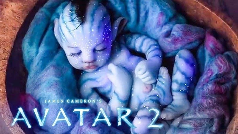 På bilden ser vi en bebis avatar