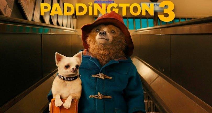 På bilden ser vi björnen Paddington