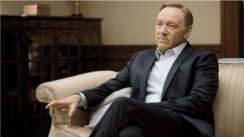 Kevin Spacey i House of Cards.