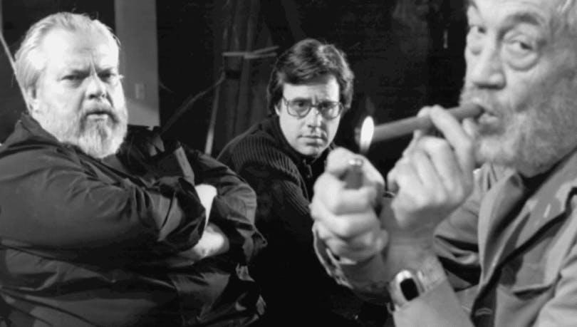 Orson Welles, Peter Bogdanovich och John Huston.