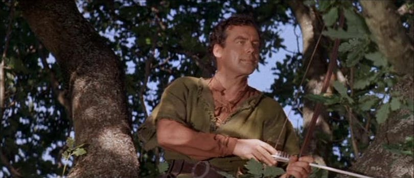 "Richard Greene i ""Sword of Sherwood Forest""."