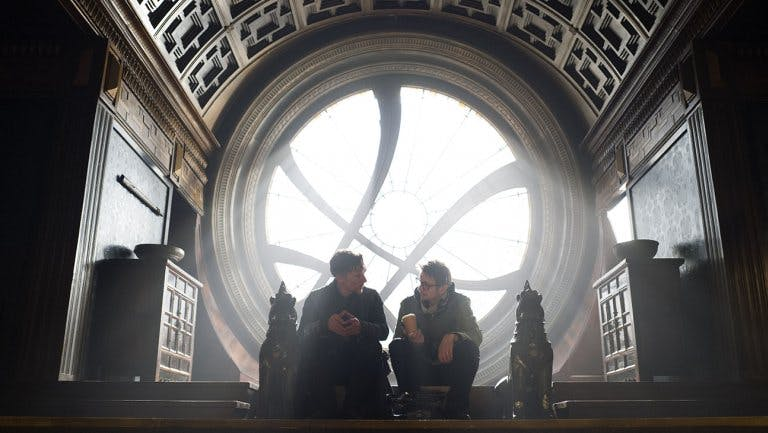 Benedict Cumberbatch och regissören Scott Derrickson