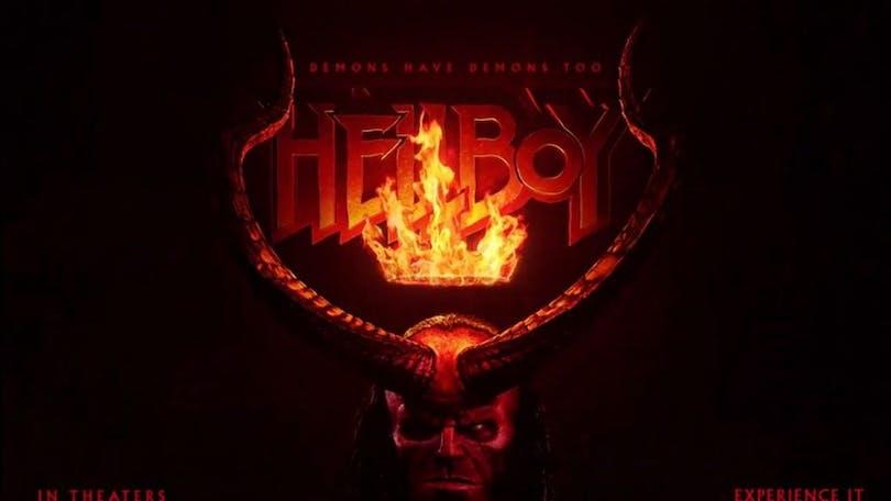 På bilden ser vi Hellboy