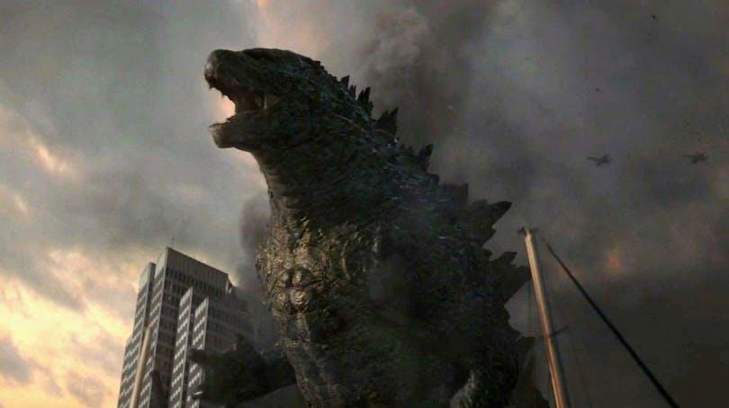 På bilden ser du mäktiga Godzilla