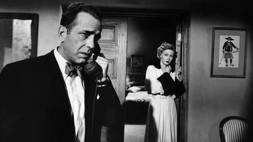 "Humphrey Bogart i ""In A Lonely Place""."