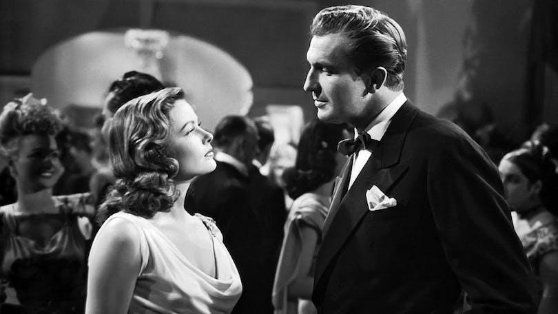 """Gene Tierney och Vincent Price i """"Laura""""."""