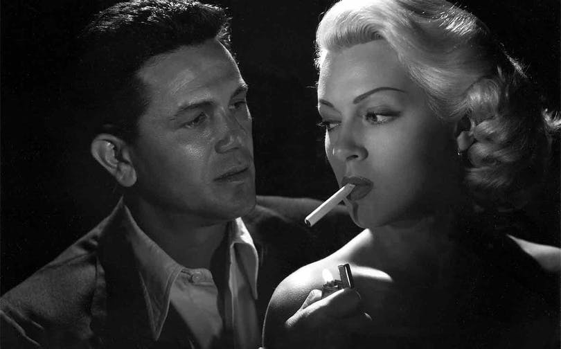 "John Garfield och Lana Turner i ""The Postman Always Rings Twice""."