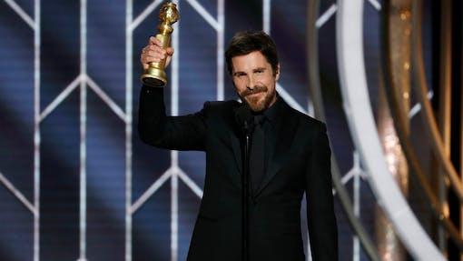 Christian Bale tackar Satan för sin Golden Globe