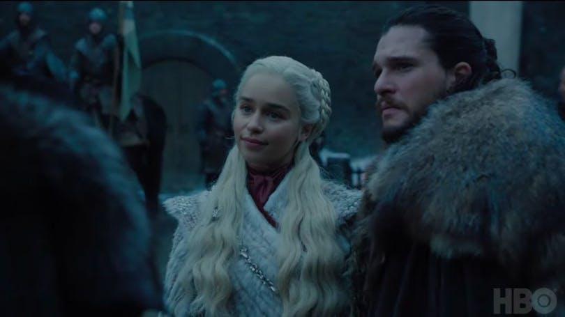 Kit Harington och Emilia Clarke som Jon Snow och Daenerys Targaryen