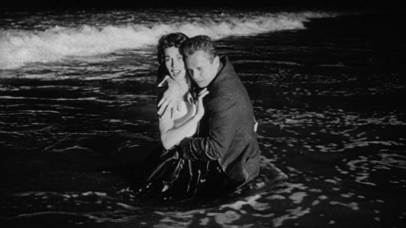 Maxine Cooper och Ralph Meeker i Natt utan nåd.