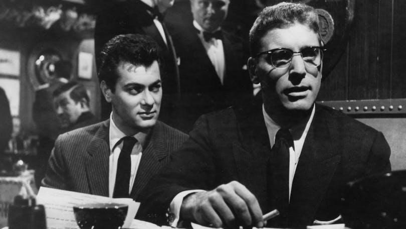 Burt Lancaster och Tony Curtis i Segerns sötma.