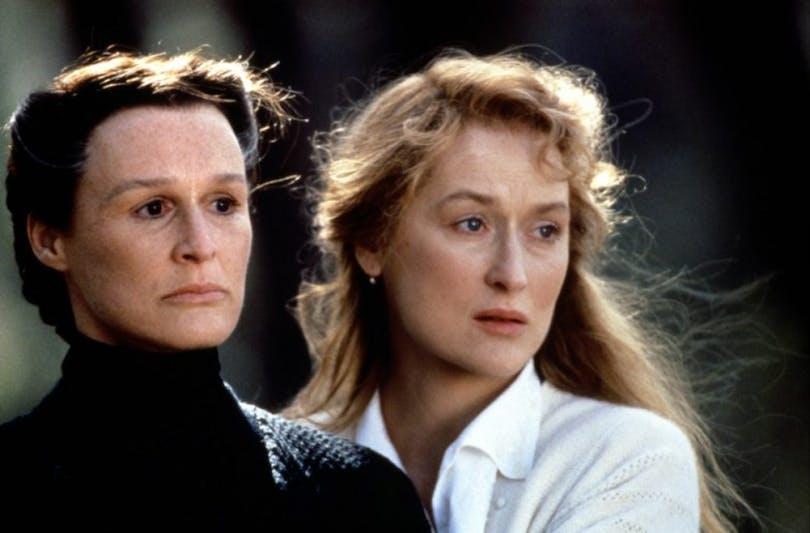 """Glenn Close och Meryl Streep i """"Andarnas hus""""."""