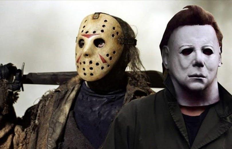 En bild på Michael Myers och Jason Voorhees