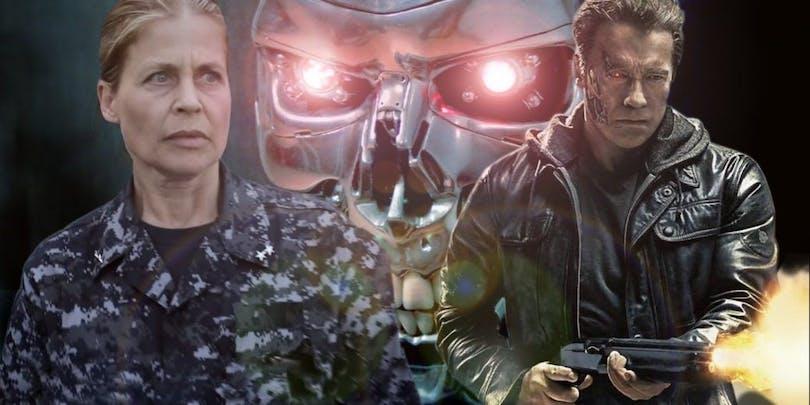 Bild på Sarah Hamilton och Arnold Schwarzenegger