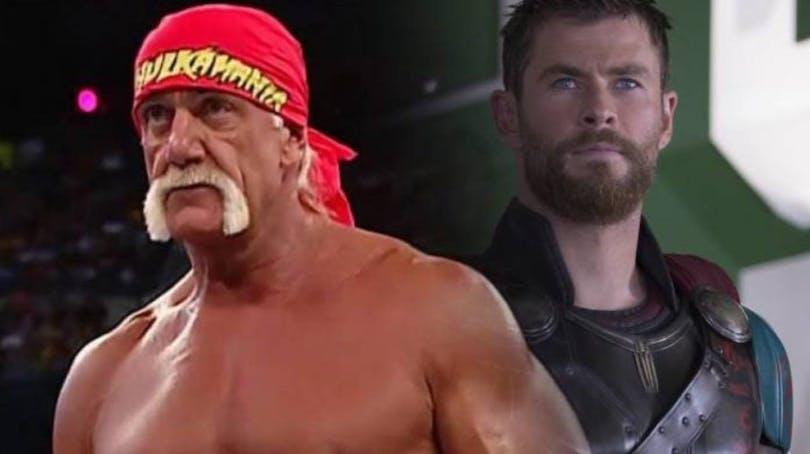 En bild av Hulk Hogan och Chris Hemsworth