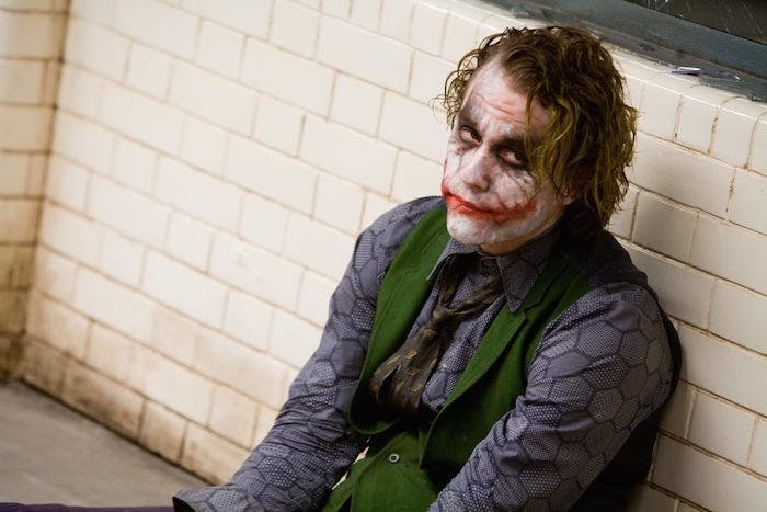 "Heath Ledger som Jokern i ""The Dark Knight"""