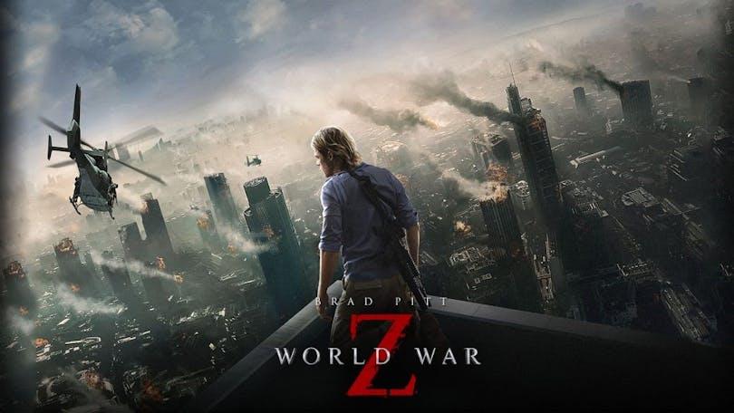 En bild av en poster där det står World War Z