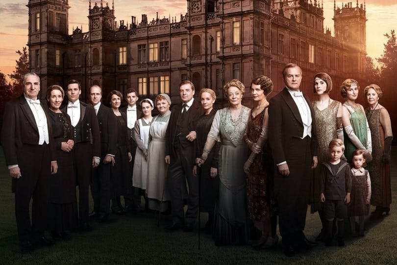 Bild på Downton Abbey gänget