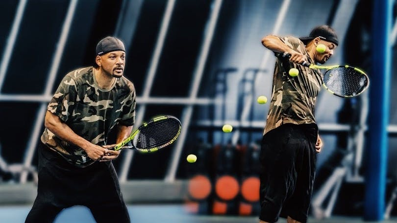 Will Smith spelar tennis