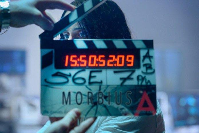 En bild på Jared Leto under inspelningarna av Morbius