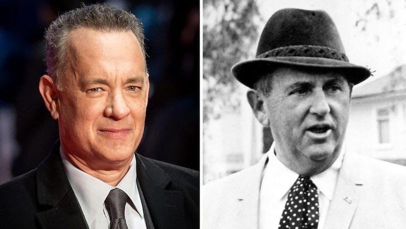 Bild på Tom Hanks och Elvis manager Tom Parker