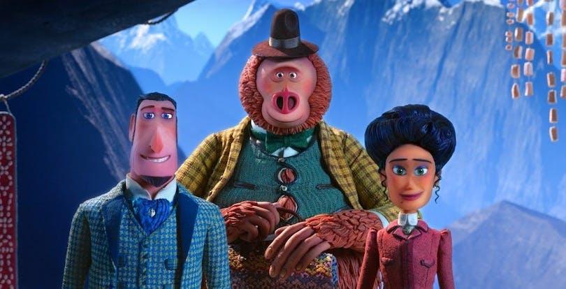 En bild på karaktärerna i Missin Link