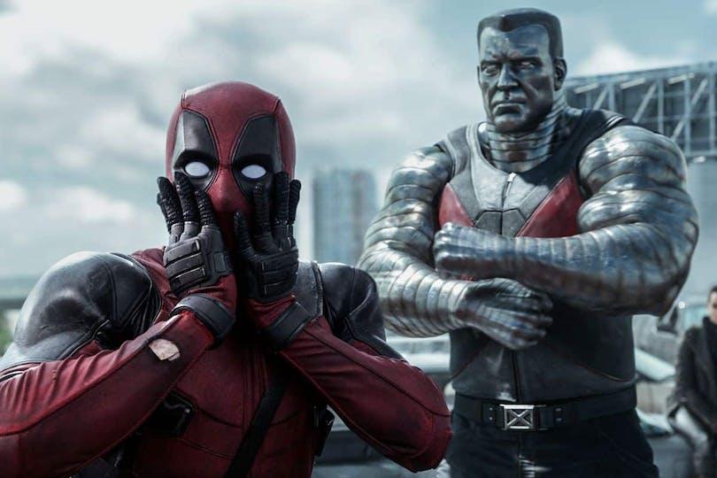 Deadpool och Colossus i Deadpool från 2016.