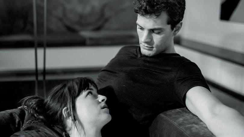 Jamie Dornan och Dakota Johnson i Fifty Shades of Grey.