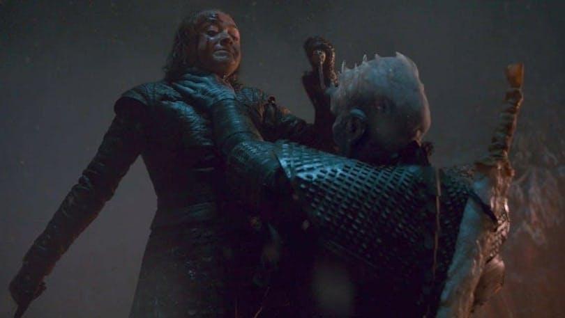 Arya Stark och the Night King i Game of Thrones