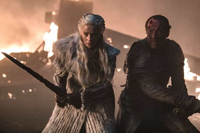 Daenerys och Jorah i Game of Thrones