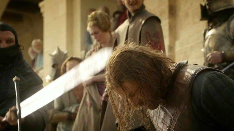 Seasn Bean som Ned Stark i Game of Thrones