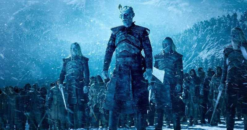Armén av White Walkers i Game of Thrones.