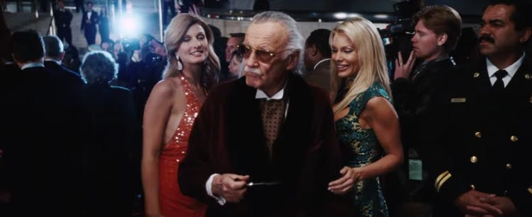 Stan Lee i Iron Man.