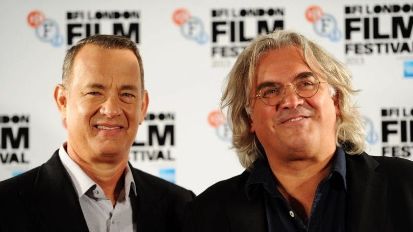 På bilden ser du Tom Hanks och Paul Greengrass