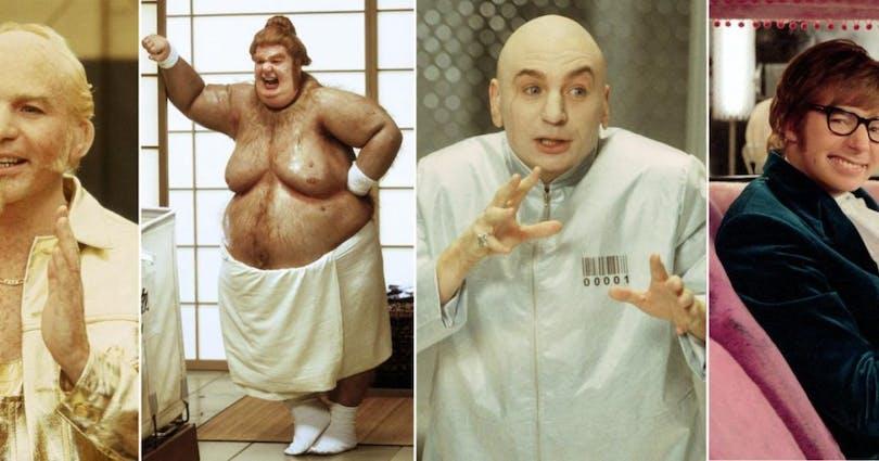 Här ser du Mayers olika karaktärer i Austin Powers filmen