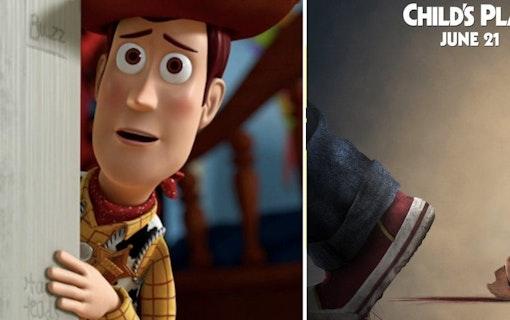 """Kolla in poster till """"Child's Play"""" där Chucky mördar Woody"""