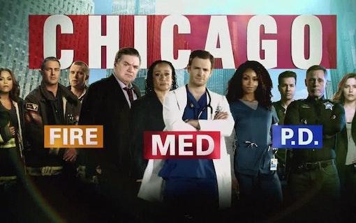 Poster till Chicago-serierna, även kallade One Chicago.