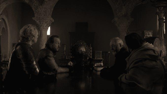 Det lilla rådet i slutet av Game of Thrones.