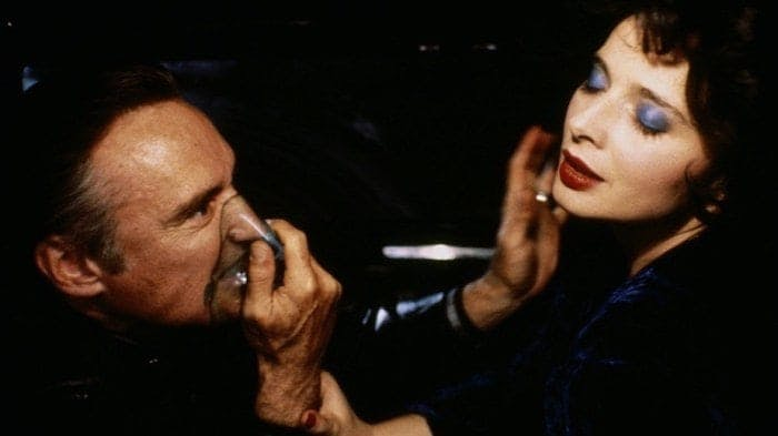 """Dennis Hopper och Isabella Rosselini i David Lynchs """"Blue Velvet""""."""