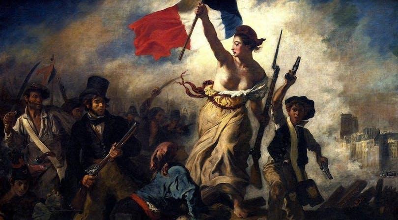 Den klassiska tavlan för Franska revolutionen.