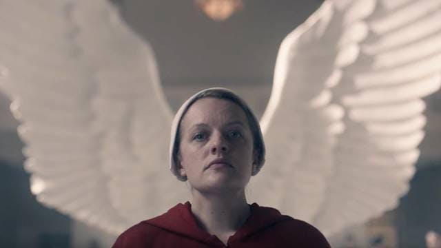 Elisabeth Moss i den populära serien. Hon är klar för Handmaid's Tale säsong 4.
