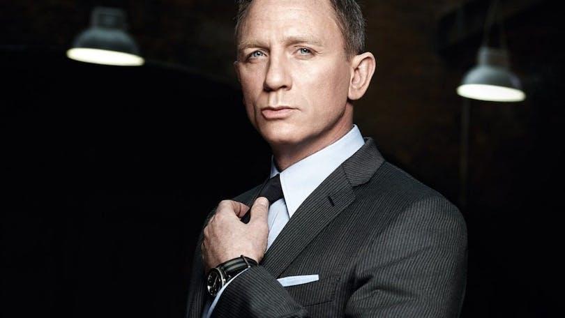 En bild på Daniel Craig som Bond i No Time to Die.