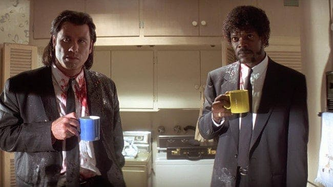 John Travolta och Samuel L. Jackson i Pulp Fiction.