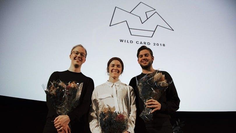 Regissörerna Jerry Carlsson, Fanny Ovesen och Ernst De Geer, mottagare av förra årets Wild Card-stöd under Stockholms filmfestival.