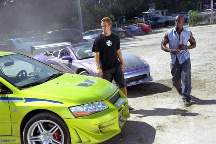Paul Walker och Tyrese Gibson i 2 Fast 2 Furious.