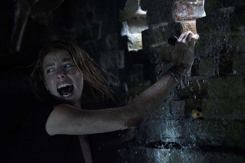 Kaya Scodelario är instängd i Crawl