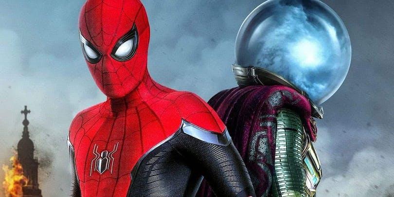 Spider-Man och Mysterio sida vid sida